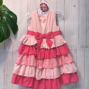 Gymboree 2pc Ruffle Dress & Bracelet Pinks Spring!